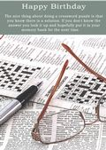 Crossword Puzzles-Birthday Card